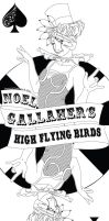 Noel Gallagher's High Flying Birds Poster Lines by kasandramurray