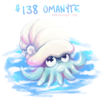 Day 9 #138 Omanyte by sandsharkattack