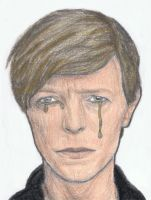 David Bowie crying by gagambo