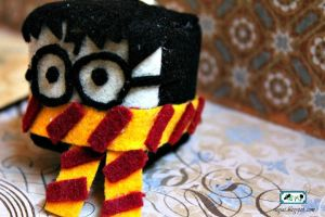Harry Potter Felt Cube Key Chain by SugiAi