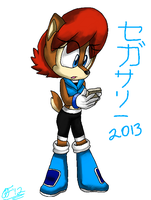 Sally Acorn 2013 (No Background) by ArtisticFox321