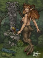 Commish - Faun Princess by JoyMason