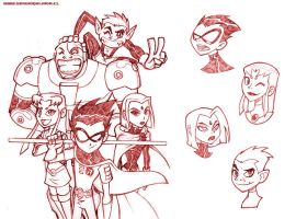 - Teen Titans Pencils - by sergio-quijada