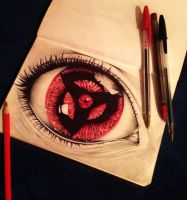 Sketch. Sharingan by aletrip