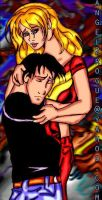 Superboy + Wondergirl Hug by angel-gidget