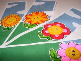Flowery Bookmarks by ChristyMoss