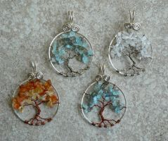 Forest for the Trees - Moonlight Pendants by magpie-poet