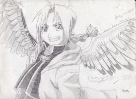 Winged Edward Elric by LinksGirlfriendZelda