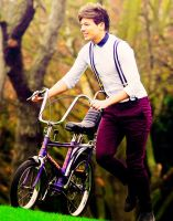 Louis with a bike by Namine24