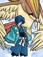 Falkner and Pidgeot final by CyberMisadventures