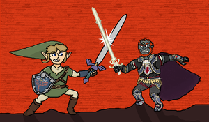 Link Vs. Ganondorf by The-Bryce-Is-Right