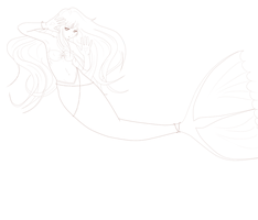 Mermaid Lineart by SeeInBlackAndWhite