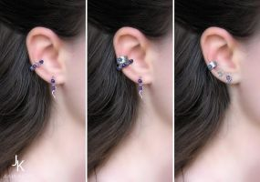 Sterling silver ear cuffs and studs by JSjewelry