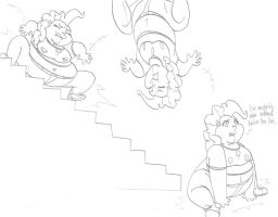 Stuffed!Pinkie Meets Stairs by CatsTuxedo