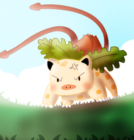 Pokemon Fusion: Primeysaur by ice-cream-skies