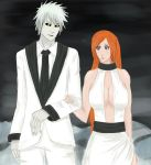 Hichigo and Orihime by qwertalert5