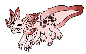 Axolotl Design by SheepishDragon