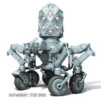 Robotical sentinel on wheels by CUTANGUS