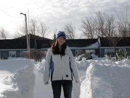 Me with the snow banks by Narzaria