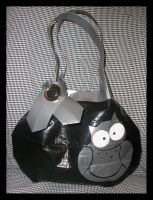 Duct Tape Owl Purse Silver by DuckTapeBandit
