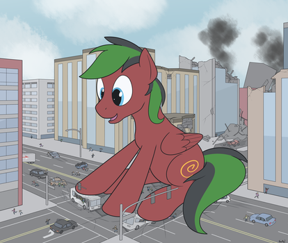 [COMMISSION] Crismon Plays in Traffic by RapidStrike