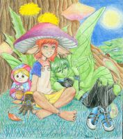 Faires, shroom and green by devilkitten1