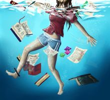 Drowning in a Sea of Homework by TheForbidd3nFruit