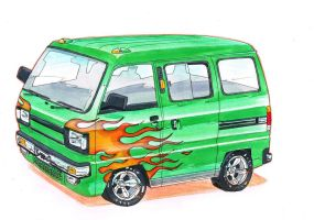 Suzuki Super Carry Van by AaronsDesk