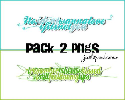 +Pack 2 PNG's by justSpeaknow