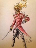 Experimental Drawing: Ghost Rider Re-design by Streak2005