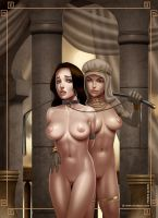 Death in the Harem pin-up by Ferres