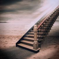 The Stairway by Papillon-Noir-Art