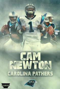 Cam Newton Poster by AMMSDesings