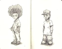 The Boondocks Huey and Riley by WillAustinsArchive