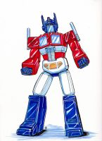 Comic Con Optimus Commish by Epscillion