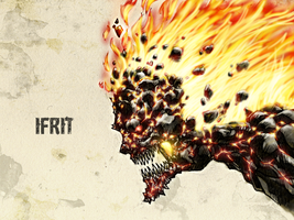 #31DaysofMonsters DAY 15: Ifrit by franciscomoxi