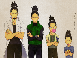 Shikamaru over the years by VortexOfSaturn
