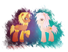 Marik and Bakura as ponies by AngelLust155
