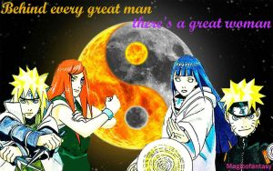 Behind every great man there's a great woman by magicofantasy