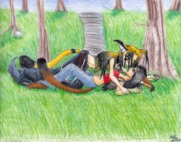 Forest Cuddling by IKilledSociety