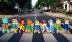 Abbey Rd Munks by Tavi-Munk