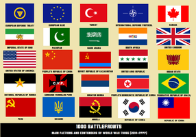 1000 Battlefronts 2: Main Flags by Silas-Coldwine