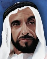 my father sh zayed by creative-dab