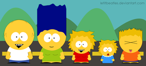 Simpsons - South Park Style by letitbeatles