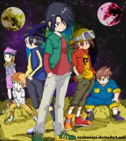 Manhua coloring Digimon Frontier by NyuKamiya