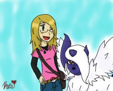 Me And My Absol Abby by Katie-Kat-Yo