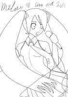 vocaloid miku lineart by stephainestarfire