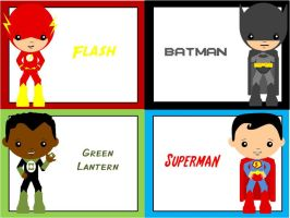 Flash, Batman, Green Lantern, Superman by ProtectorKorii