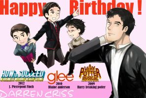 Happy Birthday Darren criss 2012 by Jackclamp