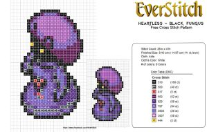 Heartless Project - Black Fungus Free Cross Stitch by EverStitch